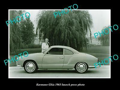 Old Large Historic Photo Of 1965 Volkswagen Karmann Ghia Launch Press Photo