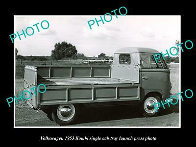 Old Large Historic Photo Of 1953 Volkswagen Kombi S/cab Launch Press Photo 2
