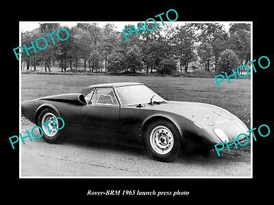 Old Large Historic Photo Of 1965 Rover Brm Concept Car Launch Press Photo