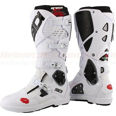 NEW - Sidi Crossfire 3 SRS Offroad Boots White, Fast 'N Free Shipping.