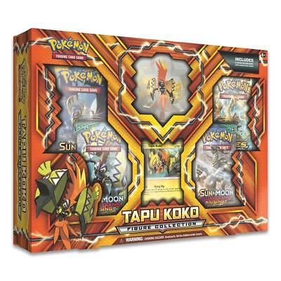NEW Pokemon TCG Tapu Koko Figure Collection Trading Card Game Booster Packs Set