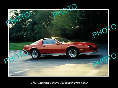 Old Large Historic Photo Of 1983 Chevrolet Camaro Z28 Launch Press Photo