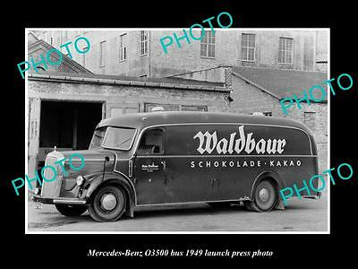 Old Large Historic Photo Of 1949 Mercedes Benz O3500 Bus Lauch Press Photo 1