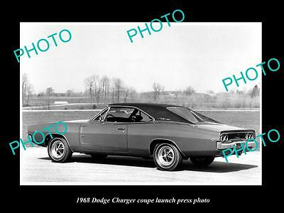 Old Large Historic Photo Of 1968 Dodge Charger Coupe Launch Press Photo 1