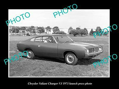 Old Large Historic Photo Of 1973 Chrysler Valiant Charger Vj Launch Press Photo