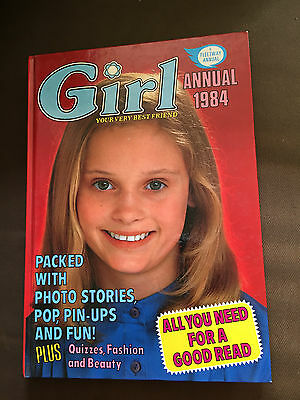1984 Girl Annual Unclipped Hardback Book