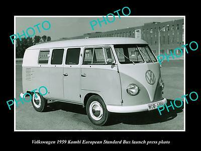 Old Large Historic Photo Of 1959 Volkswagen Kombi S/bus Launch Press Photo