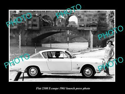 Old Large Historic Photo Of 1961 Fiat 2300 S Coupe Car Launch Press Photo 3