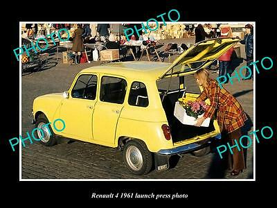 Old Large Historic Photo Of 1961 Renault 4 Model Launch Press Photo 2