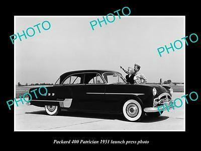 Old Large Historic Photo Of Packard 400 Patrician 1951 Launch Press Photo