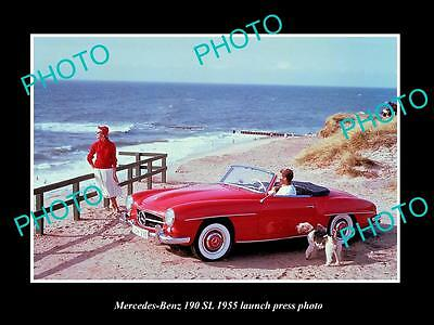 Old Large Historic Photo Of 1955 Mercesdes Benz 190 Sl Launch Press Photo