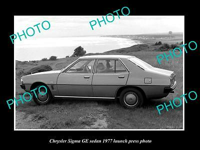 Old Large Historic Photo Of 1977 Chrysler Sigma Ge Launch Press Photo 2