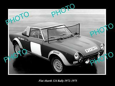 Old Large Historic Photo Of 1972 Fiat Abarth 124 Rally Launch Press Photo