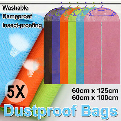 5X Garment Cover Storage Bag Dustproof Dress Suit Clothes Coat Jacket Protector