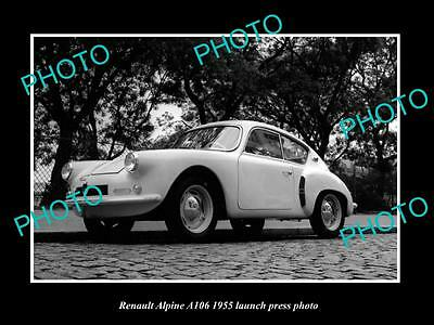 Old Large Historic Photo Of 1955 Renault A106 Alpine Launch Press Photo
