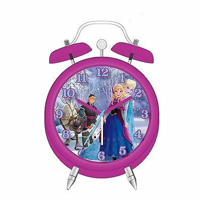 Disney Frozen Mini Twin Bell Alarm Clock New *uk Seller* 100% Official Girls
