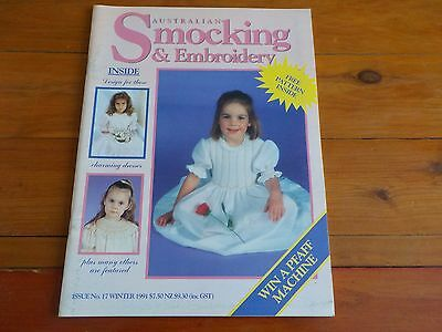 AUSTRALIAN SMOCKING & EMBROIDERY MAGAZINE - PATTERN INCLUDED - ISSUE No 17 1991