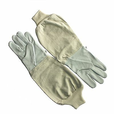 Beekeeping Bee Honey Gloves White Goatskin Leather Cotton Gauntlets All Sizes