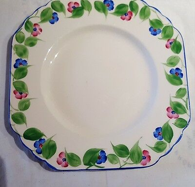 Antique Sampson Bridgwood & Sons Anchor Pottery Plate c1912-32 Made In England