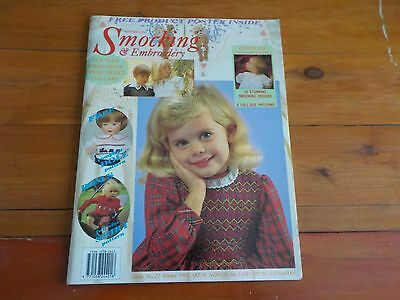 AUSTRALIAN SMOCKING & EMBROIDERY MAGAZINE - PATTERN INCLUDED - ISSUE No 21 1992