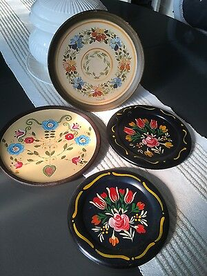Folk art decorative plates