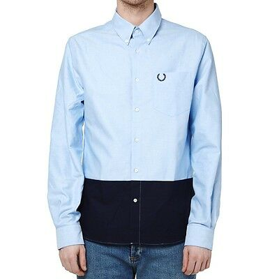 Fred Perry Laurel Wreath Collection Colour Block Oxford Shirt - M/L - Mod Ska