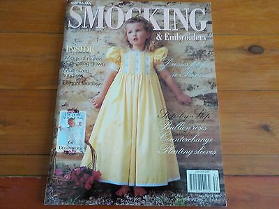 AUSTRALIAN SMOCKING & EMBROIDERY MAGAZINE - PATTERN INCLUDED - ISSUE No 34 1995