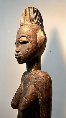 impressive old SENUFO seated figure African Art tribal sculpture mask africaine