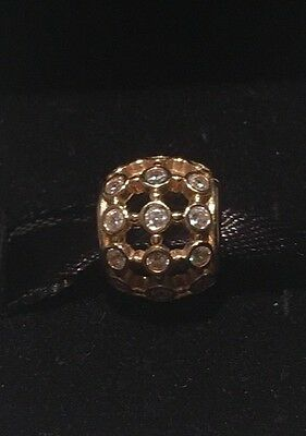 "Pandora 14k gold ""In the spotlight"" charm - RETIRED #750825CZ"