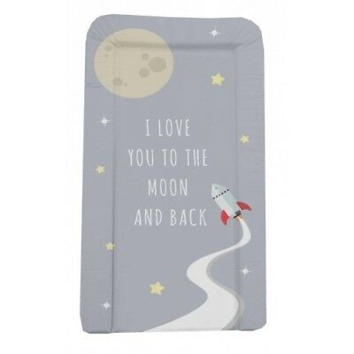 Baby Changing Mat Deluxe Nappy Wipe Clean Nursery - Love You to the Moon