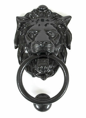 Anvil 33018 Black Large Lion's Head Antique Georgian Period Front Door Knocker