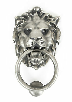 Anvil 33019 LARGE ANTIQUE PEWTER LION'S HEAD DOOR KNOCKER TRADITIONAL (ATC)