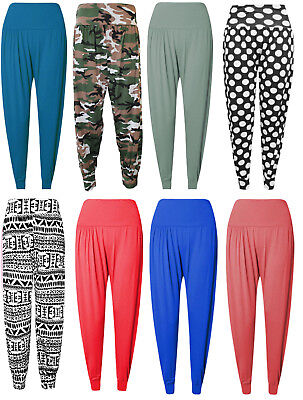 Womens Harem Trousers Ali Baba Long Pants Baggy Hareem Leggings Plus Size 8-26