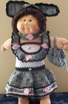 Handmade Crochet 4 Piece Cabbage Patch Doll Clothing & Accessories, 8 Years +