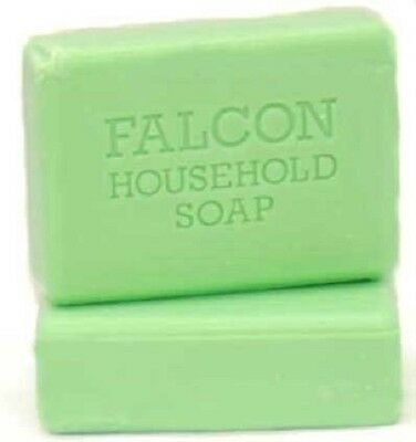 8 x Falcon Household Laundry Green Soap Bars 125g  Seconds