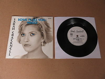 "SARAH CRACKNELL Love Is All You Need 7"" RARE 1987 ORIGINAL TED001 SAINT ETIENNE"