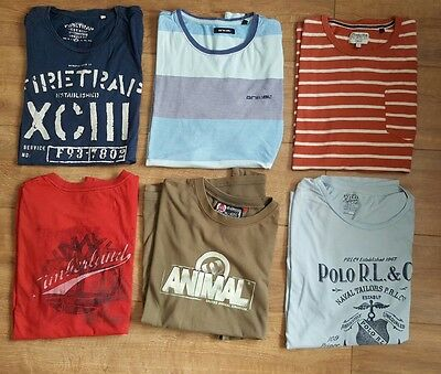 Men's Designer Clothes Bundle T Shirts. Size M/L. Polo Timberland Animal Firetra