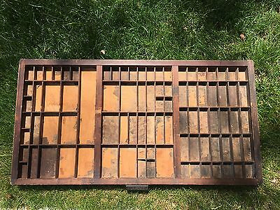 Antique Hamilton Wood Printers Draw