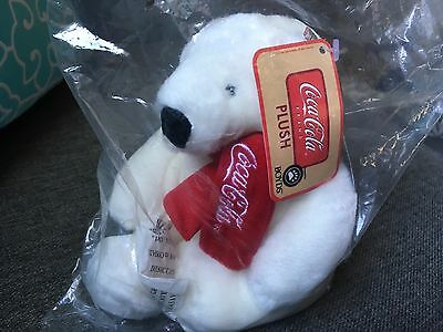 "Brand New Sealed 7"" Coca-Cola Plush Boyds Polar Bear"