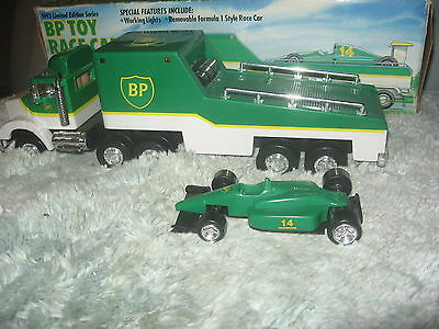 LIMITED EDITIION   1993   BP TOY Race Car' CARRIER    IN ORIGINAL BOX