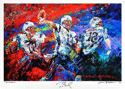 """Tom Brady - """"The Release"""" by Jace McTier - Autographed Ltd Ed of 12 Art Print"""