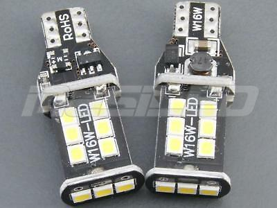 2 bombillas LED Canbus T15 W16W 15 SMD 2835 color blanco puro 5000K