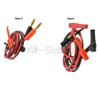 1 Set Banana Plug To Test Hook Clip Probe Cable For Multimeter Test Equipment AS
