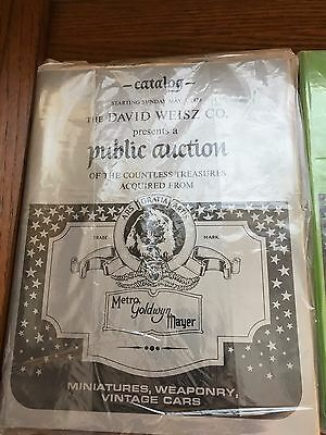 1970 MGM Auction Catalogs, set of 4, includes auction of Ruby Slippers