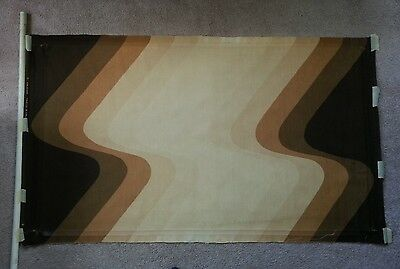 Finlayson printed in Finland 1978 mid century modern brown waves designed fabric
