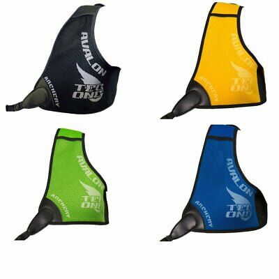 New Avalon Archery Tec One Chest Guard Woven Ventilated Blue Green Yellow R/H