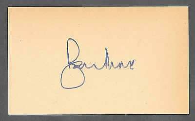 Sir Roger Moore Autograph Reprint On Genuine Original Period 1970s 3x5 Card