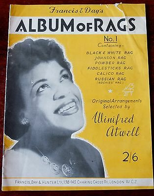 WINIFRED ATWELL ALBUM OF RAGS NO. 1 SHEET MUSIC PIANO SOLO (1950's)