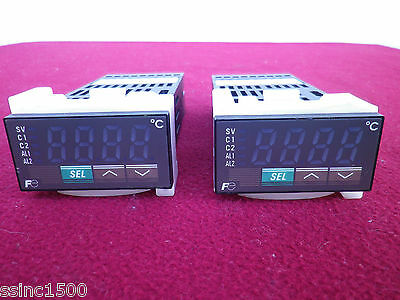 Lot of 2 Fuji Electric PXR3TCY1-4V0A1 Fuzzy Logic Controllers
