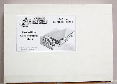 Western Scale Models # Mf-88 Two Wilfley Concentrating Tables - 1:20.3 Scale